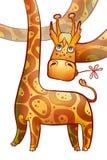 Śmieszna longnecked żyrafa Obraz Royalty Free