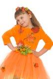 Śmieszna mała blondynki dziewczyna Fotografia Royalty Free