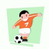 Śmieszna małe dziecko sztuki piłka nożna Zdjęcie Royalty Free