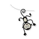 Śmieszna małpa dla twój projekta Zdjęcia Royalty Free