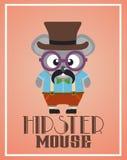 Śmieszna modniś mysz Zdjęcia Royalty Free