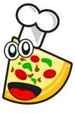 śmieszna pizza Zdjęcia Royalty Free