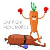 Śmieszna plakatowa dieta ilustracji