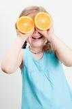 śmieszna pomarańcze Zdjęcia Royalty Free