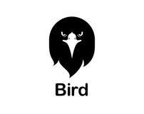 Śmieszna ptasia loga abstrakta ikona Zdjęcia Stock