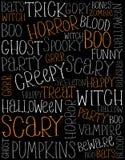 Śmieszna ręka Pisać Halloweenowej teksta wektoru ilustraci ilustracji
