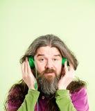 Śmiesznego mężczyzna portreta definici zieleni wysokiego tła istni ludzie Obrazy Royalty Free