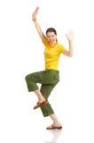 śmieszna szczęśliwa kobieta zdjęcie stock