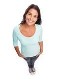 Śmieszna Uśmiechnięta nowożytna kobieta Zdjęcie Royalty Free