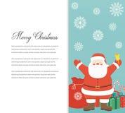 Śmieszna Wesoło kartka bożonarodzeniowa Bożenarodzeniowi charaktery wektor Zdjęcie Royalty Free