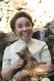 Śmieszna Wyrażeniowa babcia zdjęcie royalty free