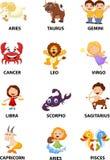 Śmieszna zodiak kreskówka ilustracji