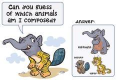 Śmieszna Zwierzęca gra dziwaczny zwierzę Obraz Stock