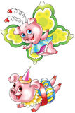śmieszne świnie Obraz Stock