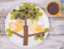 Śmieszne kanapki dla dzieciaków Obraz Stock