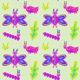 Śmieszne pluskwy, gąsienicy i motyle, Zdjęcie Stock