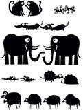 śmieszne zwierzęce inkasowe pary Obraz Stock
