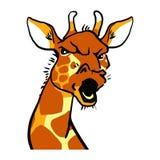 Śmiesznej kreskówki Gniewna żyrafa Żyraf emocje Zdjęcia Royalty Free