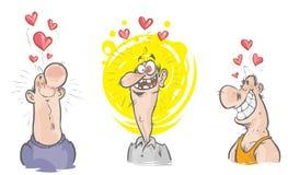 Śmieszni charaktery w miłości. Zdjęcie Royalty Free