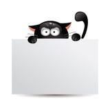 Śmieszni czarnego kota polowania również zwrócić corel ilustracji wektora Obraz Royalty Free