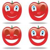Śmieszni emoticons od pomidorów Zdjęcie Royalty Free
