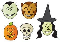 Śmieszni Halloweenowi Charaktery Zdjęcie Stock