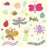 śmieszni insekty royalty ilustracja