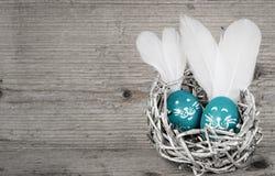 Śmieszni królika Easter jajka Śliczne wakacje dekoracje Obrazy Stock