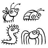 Śmieszni kreskówka insekty czołgać się gdzieś również zwrócić corel ilustracji wektora ilustracji