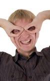śmieszni mężczyzna potrait potomstwa Zdjęcie Stock
