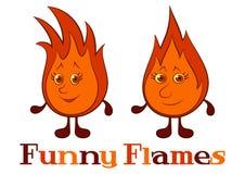 Śmieszni płomienie ilustracja wektor