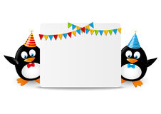 śmieszni pingwiny Obrazy Royalty Free