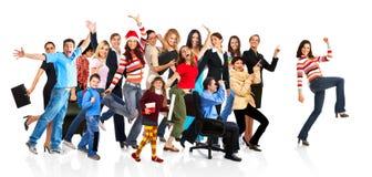 śmieszni szczęśliwi ludzie Zdjęcie Royalty Free