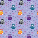 śmieszni tło koty Ilustracja Wektor