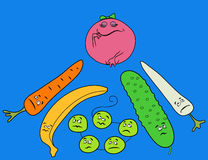 śmieszni warzywa Fotografia Royalty Free