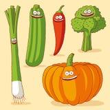 śmieszni warzywa Zdjęcie Royalty Free