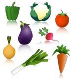 śmieszni zdrowi warzywa Zdjęcia Stock