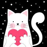 Śmieszny, śliczny kot, Miłości ilustracja royalty ilustracja