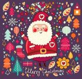 Śmieszny Święty Mikołaj ilustracji