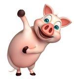 śmieszny Świniowaty postać z kreskówki Zdjęcia Royalty Free