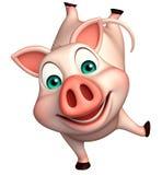 śmieszny Świniowaty postać z kreskówki Obrazy Stock