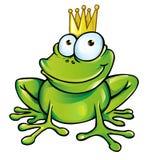 Śmieszny żaby książe Zdjęcie Royalty Free