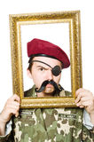 Śmieszny żołnierz Fotografia Royalty Free