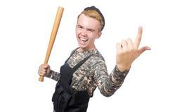 Śmieszny żołnierz odizolowywający Obrazy Royalty Free