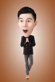 Śmieszny Azjatycki duży kierowniczy mężczyzna Zdjęcia Stock