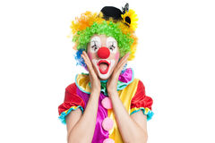 Śmieszny błazen - colorfullportrait zdjęcia stock