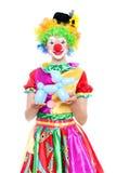 Śmieszny błazen - colorfullportrait obraz stock