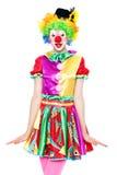 Śmieszny błazen - colorfullportrait zdjęcie stock