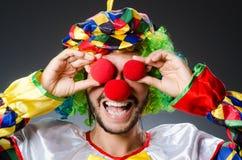 Śmieszny błazen w colourful Obrazy Stock