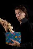 śmieszny bierze wampira czosnku pudełkowaty śmieszny prezent Zdjęcia Stock